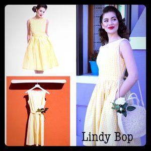 🌻Lindy Bop 'Audrey' Yellow Gingham Dress🌻